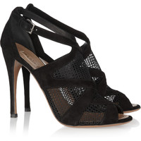 Alaïa Suede and mesh sandals  – 60% at THE OUTNET.COM