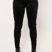 Valarie Velvet Leggings - Black