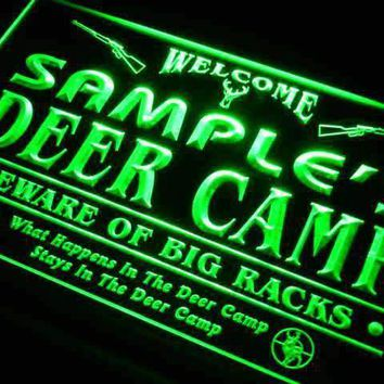 Personalized Hunting Deer Camp Neon Sign (LED)