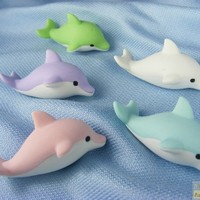 Iwako By Themes 5 colours Sea Animals Dolphin Japanese Erasers (5 pieces) from Japan Iwako Erasers