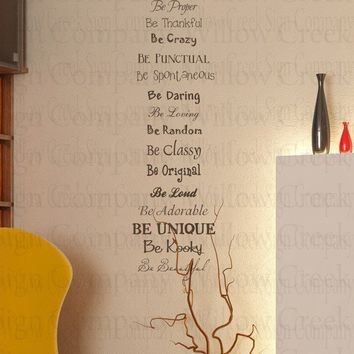 Bedroom Vinyl wall lettering words quotes art by willowcreeksigns