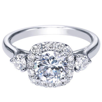 "Ben Garelick Royal Celebrations ""Lourdes"" Diamond Halo Engagement Ring"
