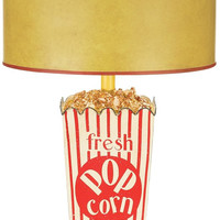 "0-030214>30""h Movie Snack 1-Light Table Lamp Red/White"