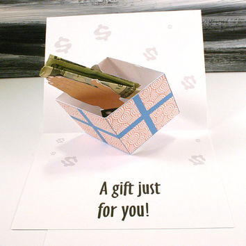 Money Holder Pop Up Present Greeting Card