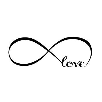 Infinity Symbol Word Love Vinyl Art Wall Sticker Decals