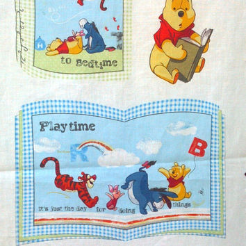 New, Cotton, Disney, Winnie the Pooh Rise & Shine Soft Book Panel, Springs Creative, BY the YARD or Panel, Instructions on Fabric, Baby Gift