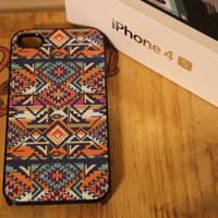 Original Native Tribal Apple Iphone 4 / 4s Hard Case Pattern Hipster Aztec