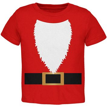 Halloween Santa Claus Costume Toddler T Shirt