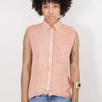 Ladakh Stormy Monday Peach Button Down Shirt | MessesOfDresses.com