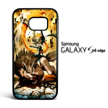 Zelda and wolf twilight princess Z0255 Samsung Galaxy S6 Edge Case