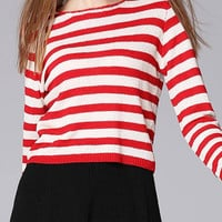 Red Stripe Knitted Jumper