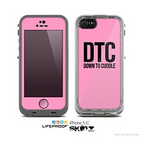 The Pink & Black Down to Cuddle Skin for the Apple iPhone 5c LifeProof Case