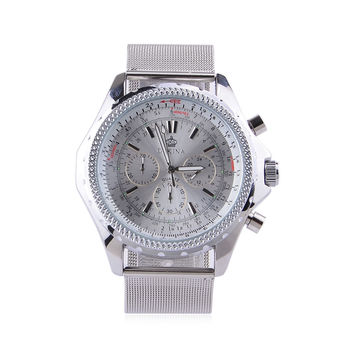 GZ-SMT Men's Fashion Dress Watch ORKINA Brand Luxury Watches Stainless Steel Quartz Wrist Watch