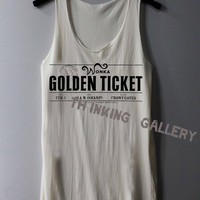 Golden Ticket Shirt Charlie and the Chocolate Factory Shirts Tank Top Tunic TShirt T Shirt Singlet - Size S M L