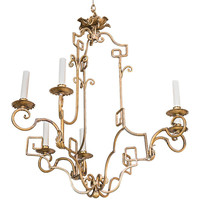 Gold Greek Key Chandelier