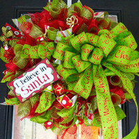 Deluxe Christmas Wreath, Christmas Door Hanger, Christmas Decoration, Ready to Ship