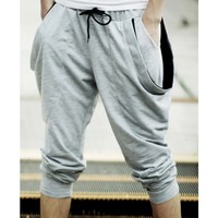 Buy Plain Low Waist Cotton Loose Mens Pants 015-140428005 , from for $18.68 only in ClothingLoves.