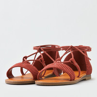 AEO Corduroy Lace Up Sandal, Rust