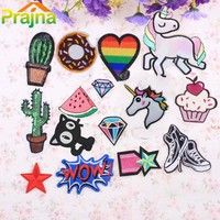 1PCS Heart Lip Letter Patch Iron On Kid Cheap Embroidered Cute Cartoon Patches For Clothes Sticker Jacket DIY Badges Applique