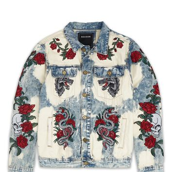 Bones And Roses Denim Jacket