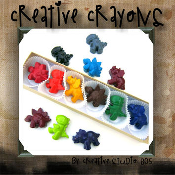 DINOSAUR | shaped crayons | party favors | birthday | baby shower