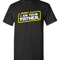 Personalized Name, I Am Your Father T-shirt Tshirt Tee Shirt Fathers day gift Dad Grandpa Star Wars Parody present Papa Movie Film Custom