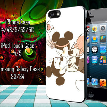 Mickey Mouse Minnie Mouse Kiss Samsung Galaxy S3/ S4 case, iPhone 4/4S / 5/ 5s/ 5c case, iPod Touch 4 / 5 case