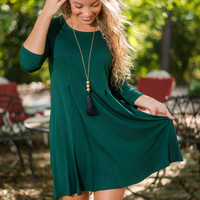 Hello Goodbye Dress, Green