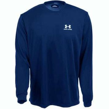LMFON Under Armour Youth Navy Blue Long Sleeve Shirt