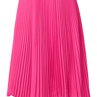 we11done - Asymmetric plissé-crepe midi skirt