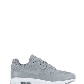 Nike Gray Air Max 1 Sneaker - Gray Leather Sneakers