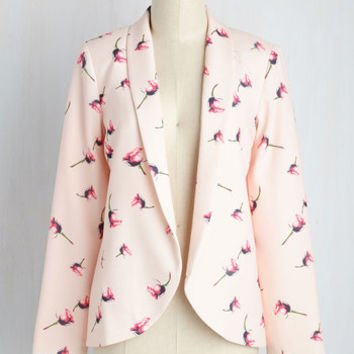 Flash Into Interview Blazer in Roses | Mod Retro Vintage Jackets | ModCloth.com