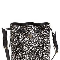 Tory Burch 'Brody' Calf Hair Bucket Bag - Black