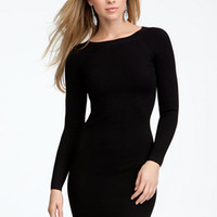 Long Sleeve Crew Neck Sweater Dress