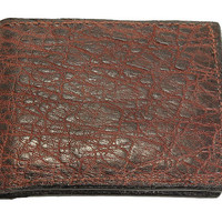 Genuine Elephant Leather Bifold Wallet in Dragon's Breath Color - Free Shipping to USA
