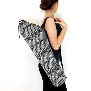 Handmade Yoga Mat Bag Yoga Bag Yoga Tote Yoga Sling bag Pilates Bag Pilates Mat Bag Woven Yoga Bag Women bag Woven Cotton bag (FF1)
