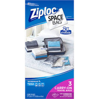 Ziploc Space Bag Ziploc Space Bag Travel Bag (Set Of 3) Clear 3 Piece