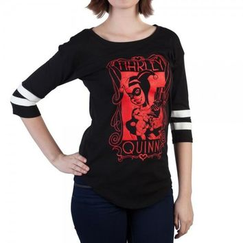 DC Comics Harley Quinn Yoke Ralgan Juniors T-shirt by Bioworld