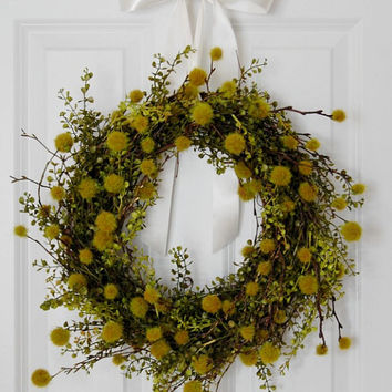 Greenery Wreath, Indoor Wreath, Front Door Wreath, Spring Wreath, Summer Wreath, Home Decor
