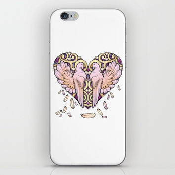 Lover Pigeons - Royal Heart iPhone & iPod Skin by MIKART