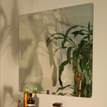 18-inch x 18-inch Square Frameless Bathroom Mirror with Beveled Edges