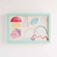 Assembly Home Shapes Play Framed Art- Turquoise One