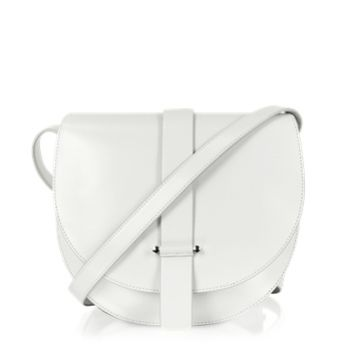 Jil Sander Designer Handbags Robin Natural White Leather Crossbody Bag
