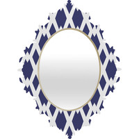 Lisa Argyropoulos Daffy Lattice Navy Baroque Mirror