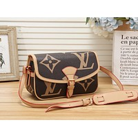 LV Louis Vuitton Women Leather Shoulder Bag Crossbody Satchel