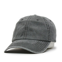 Plain Washed Cotton Twill Baseball hat with Adjustable Velcro