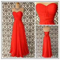 Hot Red Exquisite Aline Sweetheart Neckline Floor by SpcialDresses