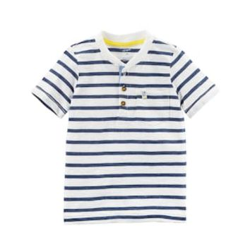 Toddler Boy Carter's Striped Pocket Henley | null