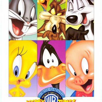 Warner Brothers Looney Tunes Cartoons 27x40 Movie Poster
