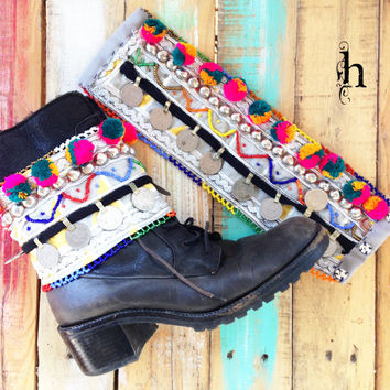 Innalo Tribal Boot Belt (Pair)